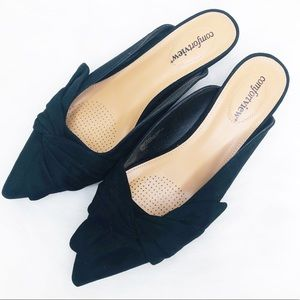 Comfortview The Bibiana Suede Slip-on Mule Shoes